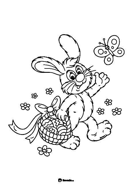Velikonoční omalovánky k vytištění Bevedo