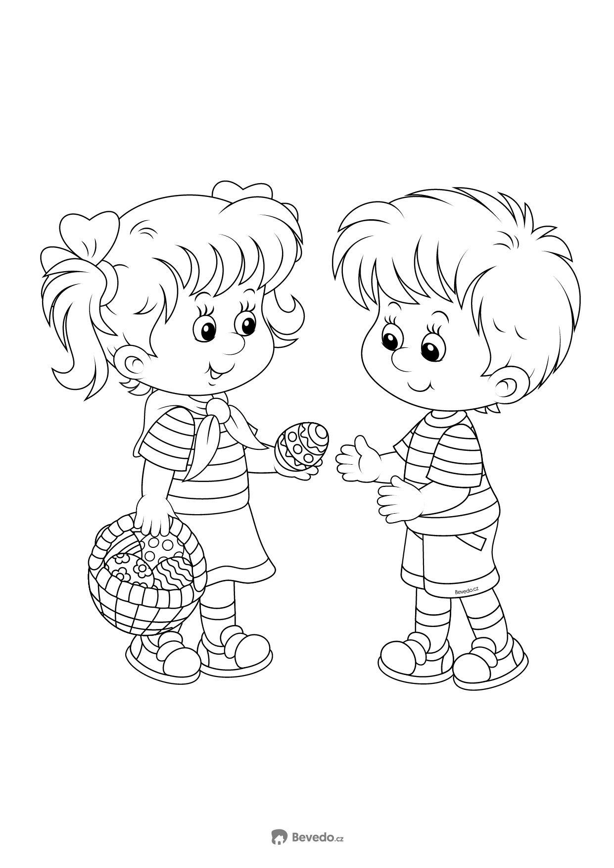 Velikonoční omalovánky vajíčko děti