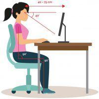 Ergonomie sezení na kancelářských žídlích